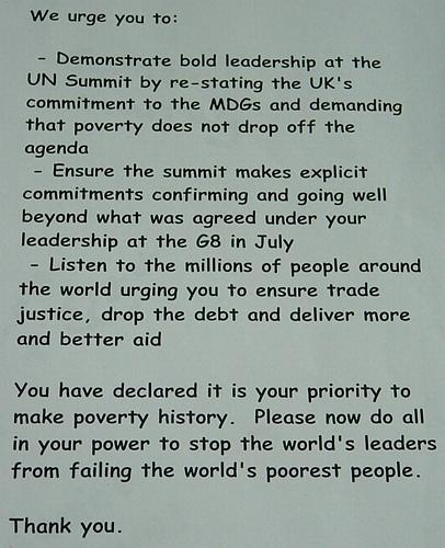 … to commit to the Millennium Development Goals