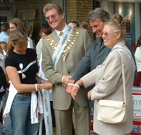 Michael Wills MP turned up for a photo opportunity with the mayor