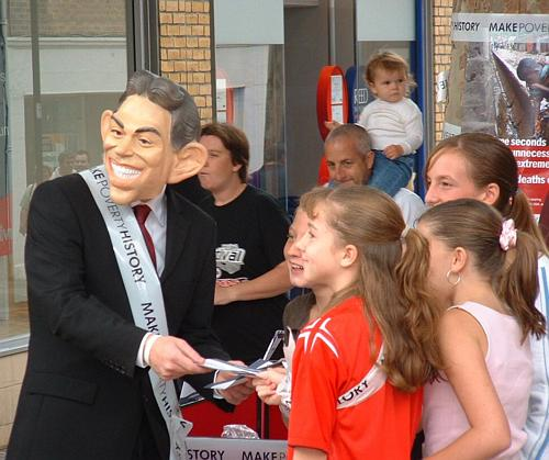 Kids give their message to Tony Blair