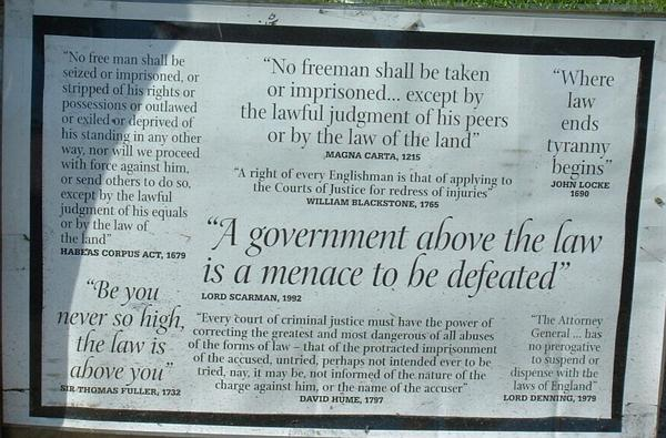 A government above the law is a menace to be defeated