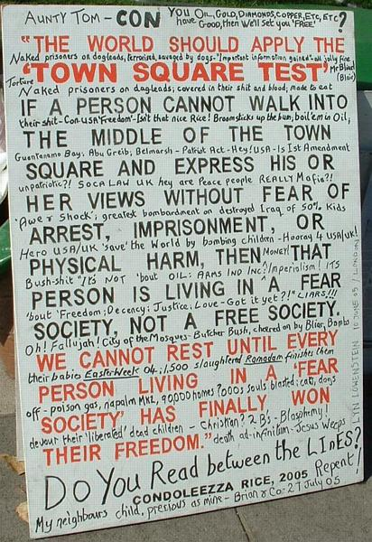 The town square test