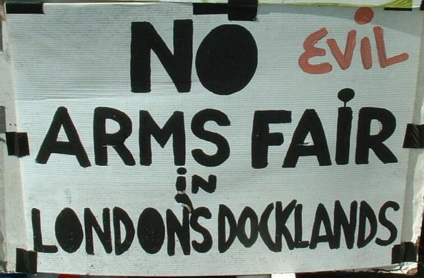 No evil arms fair in London's docklands