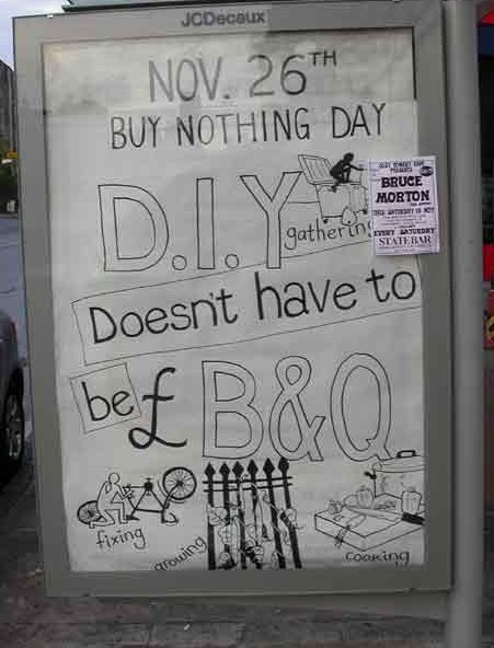 Glasgow Buy Nothing Day 'Ad'