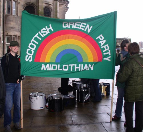 Scottish Green party from various areas