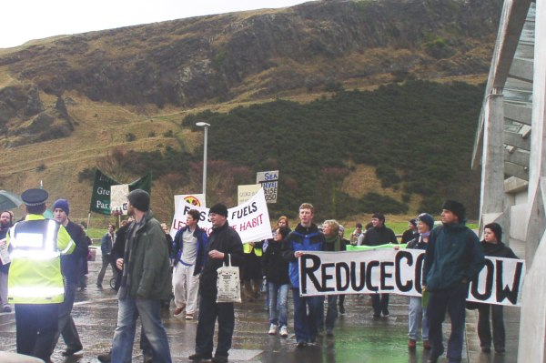 arrival at Scottish Parliament