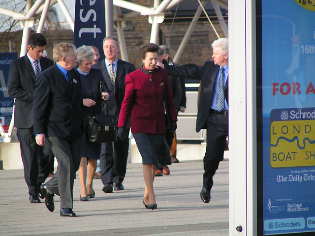 Flashback / HRH Princess Anne Visits The Schroders London Boat Show 2005