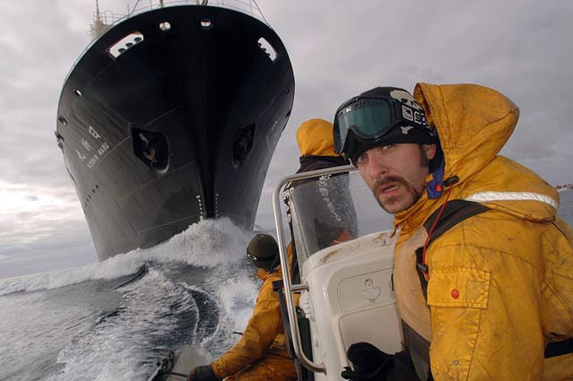 Sea Shepherd crew prepare to take on Nisshin Maru