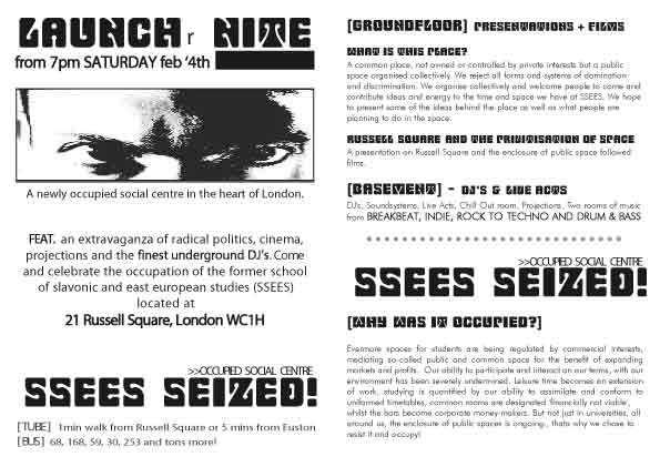 SSEES Launch Flyer
