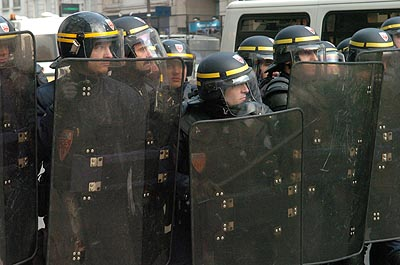 ...that the CRS riot squad are not all that popular...