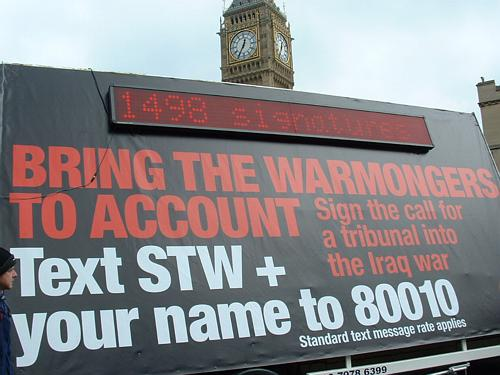 Sign the call for a tribunal into the Iraq war