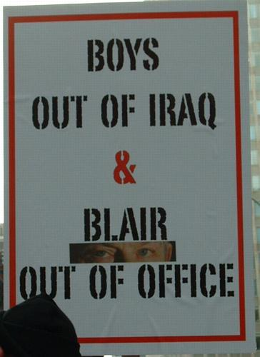 Boys out of Iraq – Blair out of office