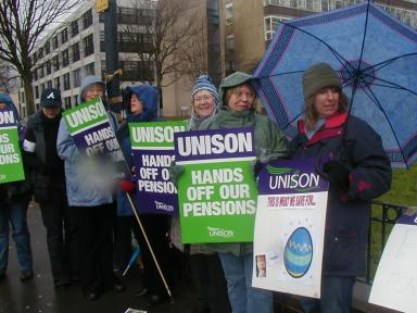And the University of Bradford picket was small but visible