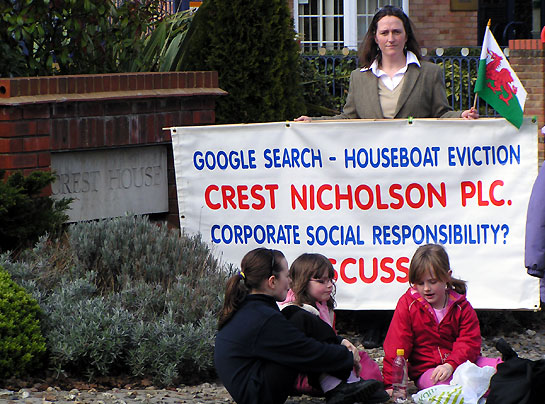 Evicted Mother Protests At Crest House Weybridge Surrey