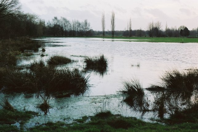 flooded golf course winter 2001/2002