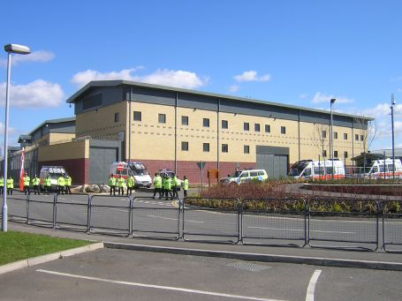 View of Colnbrook detention centre