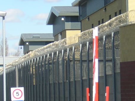 Side view of Colnbrook. No, it's not a prison, they say, just a detention centre