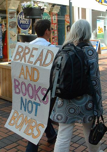 Bread and books not bombs