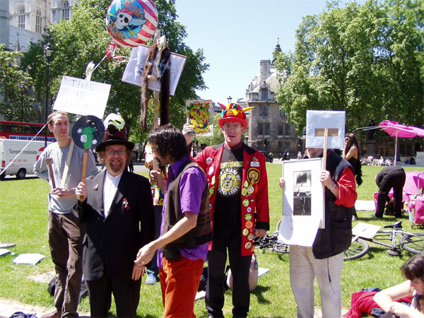 some of mark thomas' surrealist protesters