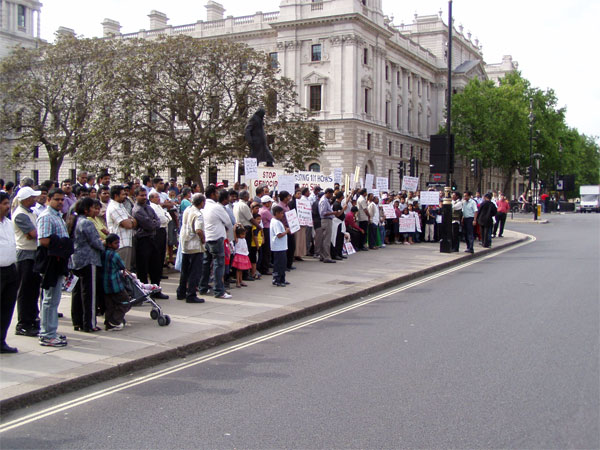 the tamil protest on sunday afternoon