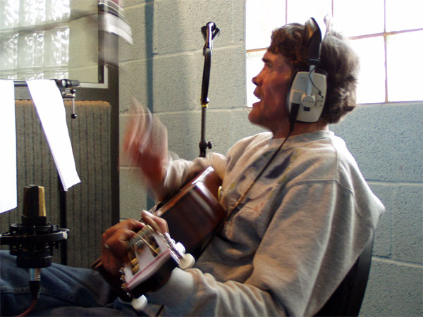 brian haw in the recording studio