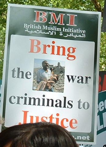 Bring the war criminals to justice