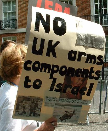 No UK arms components to Israel