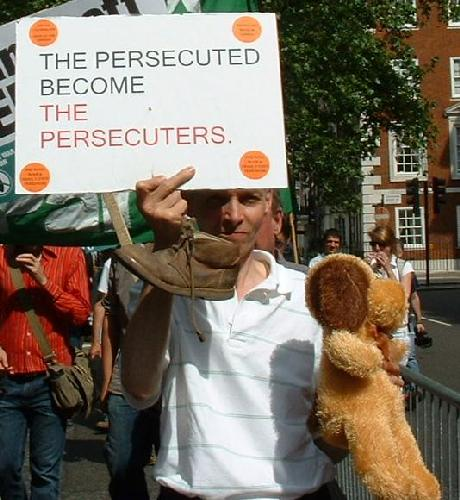 The persecuted become the persecuters