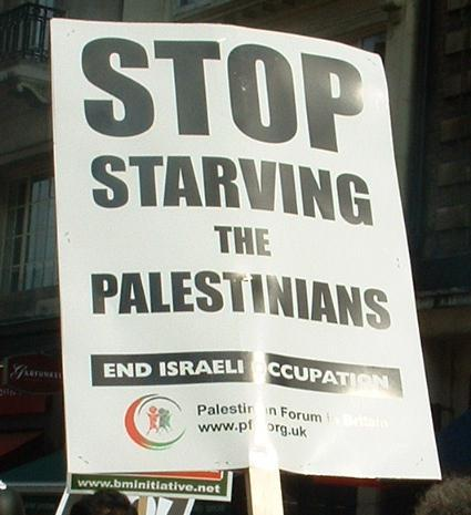 Stop starving the palestinians
