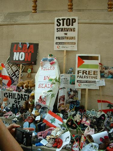Shoes at the cenotaph