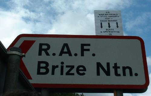 "US war materials flights through ""RAF""? Brize Norton"