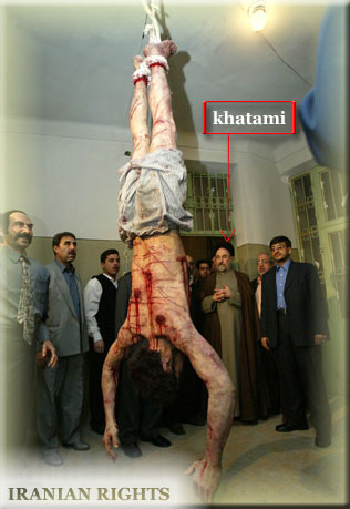 the photo as real, but it was taken at the opening of a torture ...