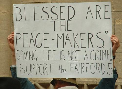 Blessed are the peace-makers
