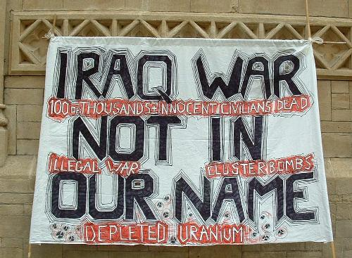 Iraq war not in our name