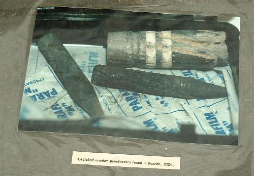 Depleted uranium penetrators found in Basrah, 2004