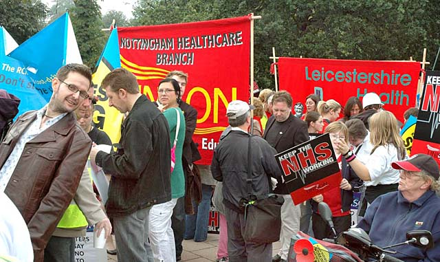 Link to Indymedia report about East Midlands NHS demonstration