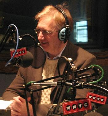 Craig Murray at a radio interview at the community radio station in NYC