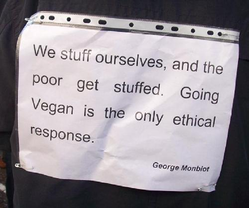 We stuff ourselves and the poor get stuffed