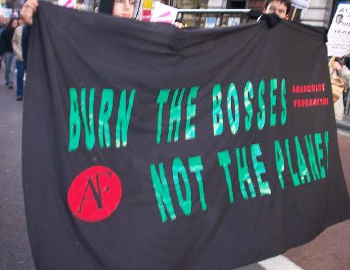 Burn the bosses, not the planet