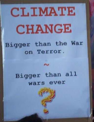 Climate change - bigger than the war on terror