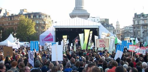 I-Count rally in Trafalgar Square
