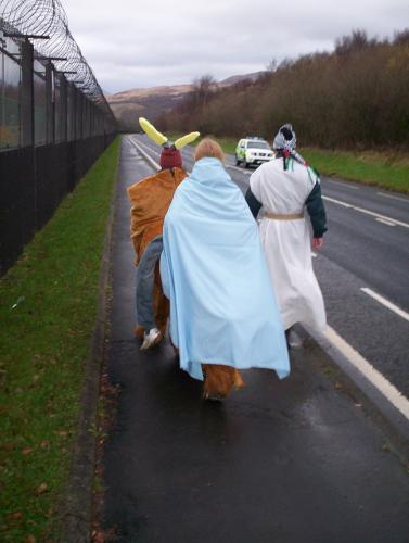 Mary, Joseph and the donkey