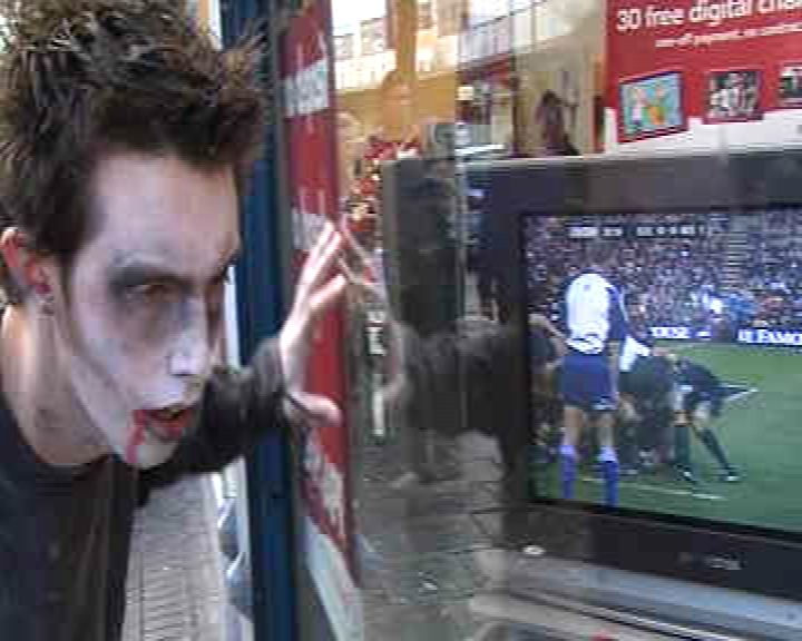 a plague of zombie consumers sweeps Bristol city centre