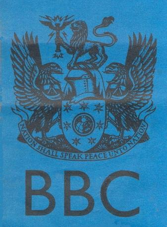 the old BBC crest which was phased out when John Birt became DG