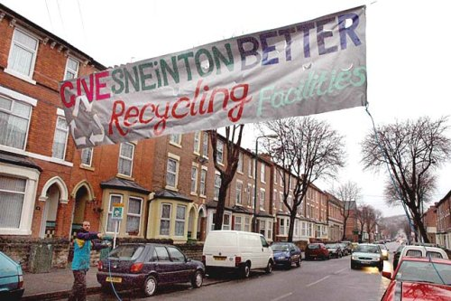Bannerdrop in Sneinton, Nottingham, March 2006