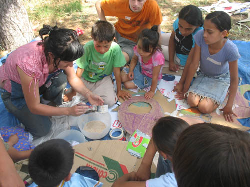 Working with Roma children in Bitola, Macedonia, July 2006