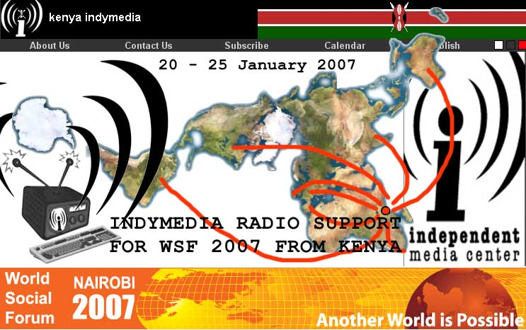IMC radio support for WSF 2007 from Kenya