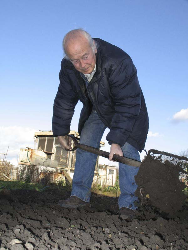 Reg has had his allotment for 55 years and his dad for 14 before him