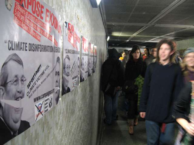 The people-jam in the Marble Arch subway leading to Hyde Park's Speakers Corner