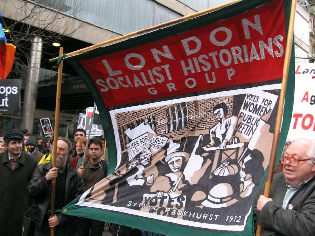 The spirit of Sylvia Pankhurst profuses protesters
