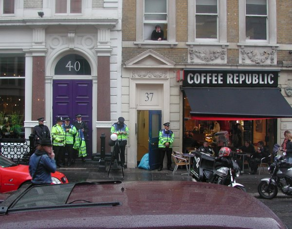 Police Protects The Coffee Republic